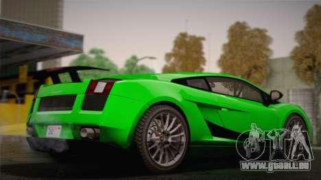 Lamborghini Gallardo Superleggera pour GTA San Andreas vue intérieure