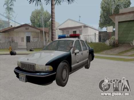 Chevrolet Caprice LVPD 1991 pour GTA San Andreas vue intérieure