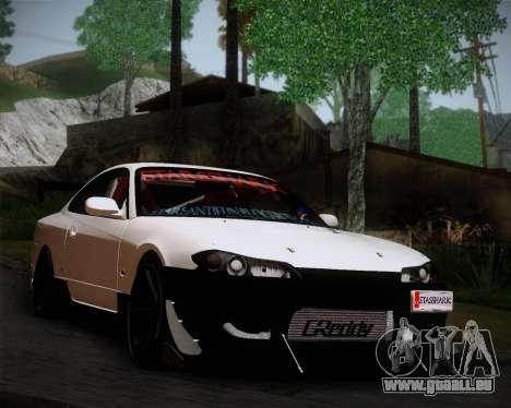 Nissan Silvia S15 JDM für GTA San Andreas zurück linke Ansicht