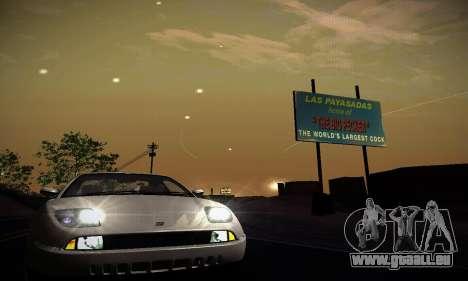 Fiat Coupe pour GTA San Andreas vue intérieure