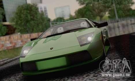 Lamborghini Murciélago 2005 pour GTA San Andreas vue de dessous