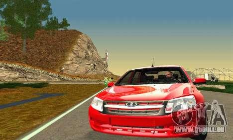 VAZ 2190 Grant Stock pour GTA San Andreas sur la vue arrière gauche