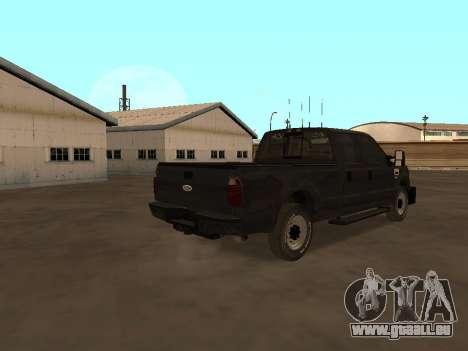 Ford F-350 ATTF für GTA San Andreas rechten Ansicht