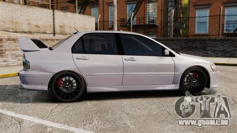 Mitsubitsi Lancer MR Evolution VIII 2004 Stock für GTA 4 linke Ansicht