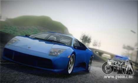 Lamborghini Murciélago 2005 für GTA San Andreas zurück linke Ansicht