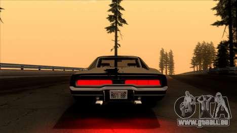 Dodge Charger 440 (XS29) 1970 pour GTA San Andreas vue intérieure