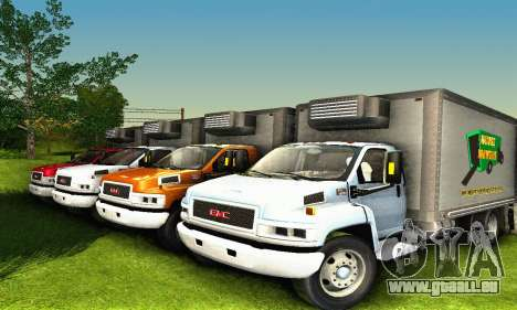 GMC Top Kick C4500 Dryvan House Movers 2008 für GTA San Andreas obere Ansicht