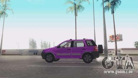Ford EcoSport V2 pour GTA San Andreas sur la vue arrière gauche