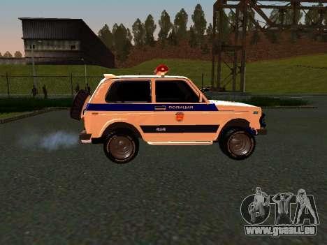 VAZ 212140 Police pour GTA San Andreas sur la vue arrière gauche