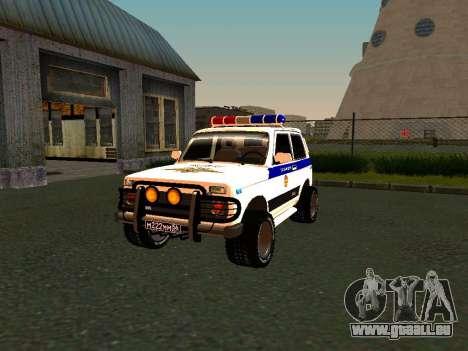 VAZ 212140 Polizei für GTA San Andreas Seitenansicht