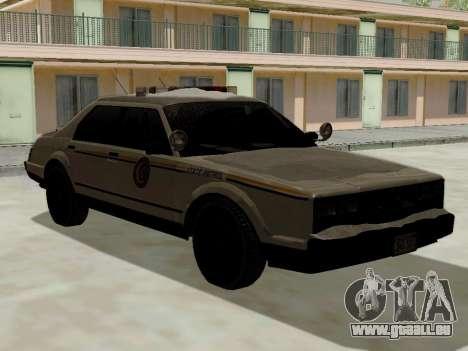 Nord Yanton Polizei Esperanto von GTA 5 für GTA San Andreas linke Ansicht