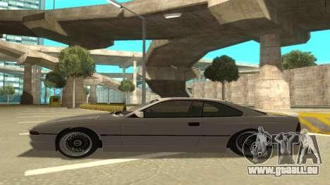 BMW 850CSi 1996 Stock version pour GTA San Andreas sur la vue arrière gauche