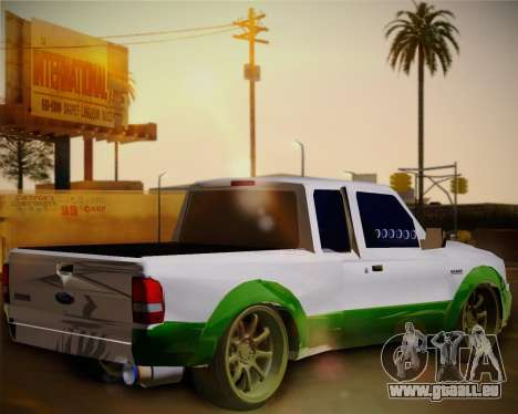 Ford Ranger 2005 pour GTA San Andreas sur la vue arrière gauche