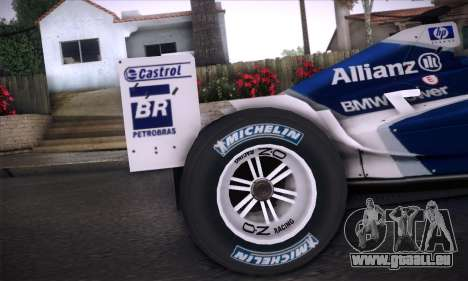BMW Williams F1 pour GTA San Andreas vue intérieure