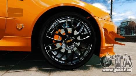 Nissan Skyline R34 GT-R NFS Underground pour GTA 4 Vue arrière de la gauche
