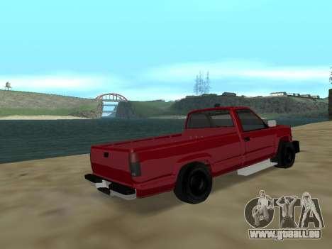 Chevrolet Silverado ATTF pour GTA San Andreas sur la vue arrière gauche