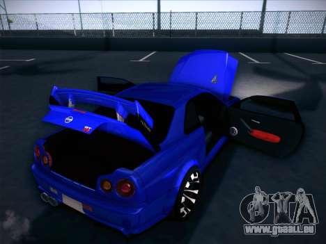 Nissan Skyline GTR pour GTA San Andreas vue de dessous