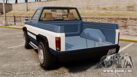 Rancher 1997 pour GTA 4 Vue arrière de la gauche
