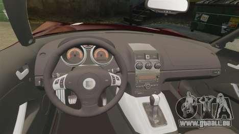 Saturn Sky Red Line Turbo pour GTA 4 est une vue de l'intérieur
