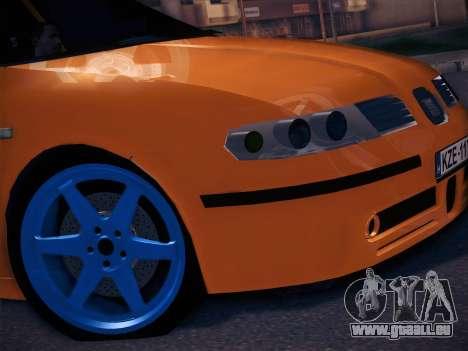 Seat Toledo Cupra R pour GTA San Andreas sur la vue arrière gauche