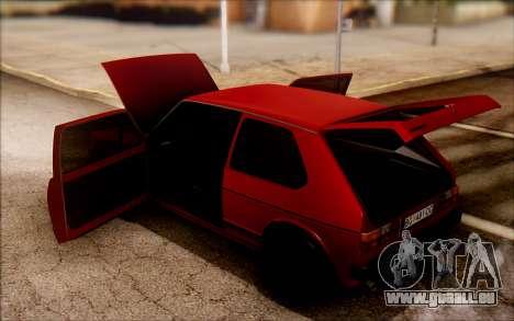 Volkswagen Golf Mk1 TAS pour GTA San Andreas vue de droite