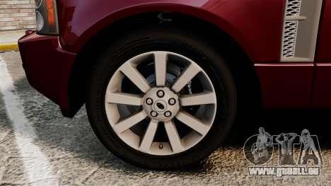Range Rover Supercharged pour GTA 4 Vue arrière