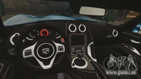 Dodge Viper SRT GTS 2013 für GTA 4 Seitenansicht