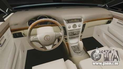 Cadillac CTS SW 2010 für GTA 4 Innenansicht
