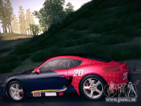 Porsche Cayman S 2014 pour GTA San Andreas salon