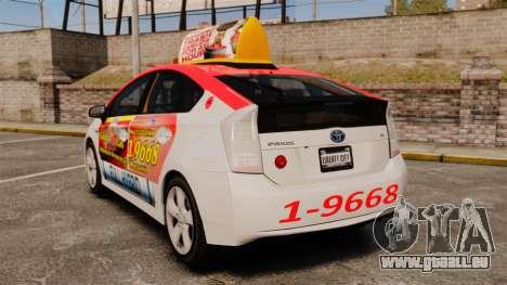 Toyota Prius 2011 Warsaw Taxi v4 pour GTA 4 Vue arrière de la gauche