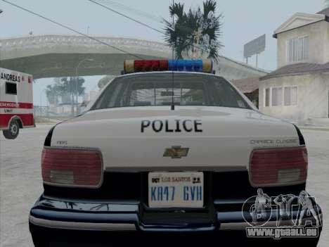 Chevrolet Caprice LVPD 1991 für GTA San Andreas rechten Ansicht