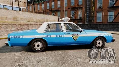 Chevrolet Caprice 1987 NYPD pour GTA 4 est une gauche