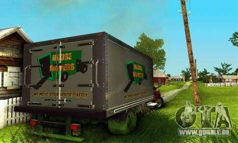 GMC Top Kick C4500 Dryvan House Movers 2008 pour GTA San Andreas vue intérieure
