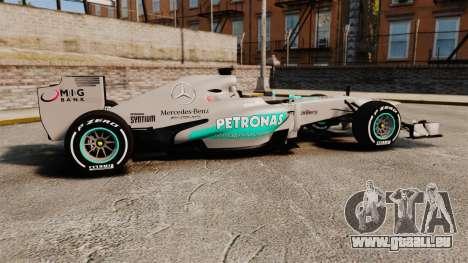 Mercedes AMG F1 W04 v5 für GTA 4 linke Ansicht