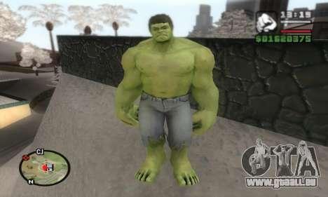 Hulk pour GTA San Andreas deuxième écran