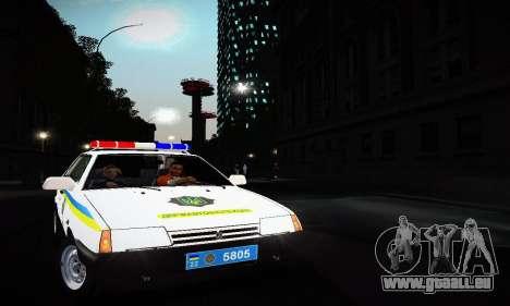 VAZ 2108 Ukraine REC pour GTA San Andreas laissé vue