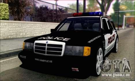Mercedes-Benz 190E Evolution Police für GTA San Andreas