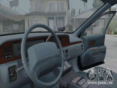 Chevrolet Caprice LVPD 1991 pour GTA San Andreas laissé vue