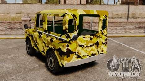 Land Rover Defender Antiguo für GTA 4 hinten links Ansicht