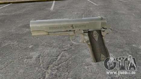 Colt M1911 pistolet v3 pour GTA 4 troisième écran