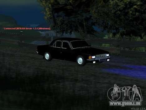 GAZ 3102 pour GTA San Andreas vue intérieure