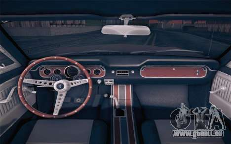 Ford Mustang GT 289 Hardtop Coupe 1965 pour GTA San Andreas vue de droite