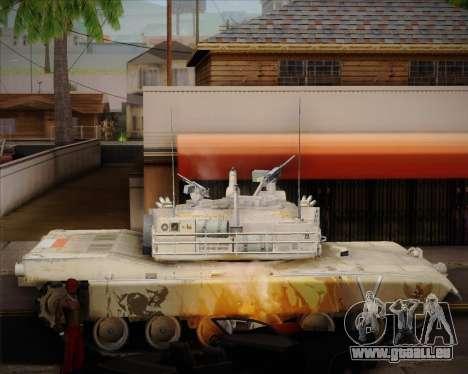 Abrams Tank Indonesia Edition pour GTA San Andreas laissé vue