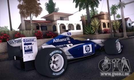 BMW Williams F1 pour GTA San Andreas vue arrière