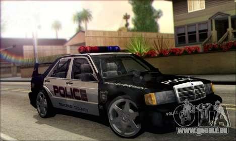 Mercedes-Benz 190E Evolution Police pour GTA San Andreas vue de droite