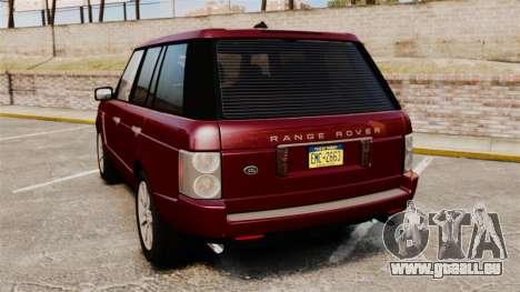 Range Rover Supercharged pour GTA 4 Vue arrière de la gauche