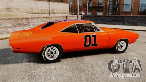 Dodge Charger 1969 General Lee v2.0 HD Vinyl für GTA 4 linke Ansicht