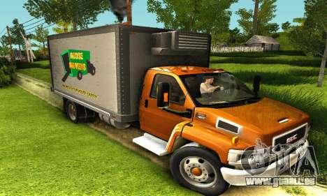 GMC Top Kick C4500 Dryvan House Movers 2008 für GTA San Andreas linke Ansicht