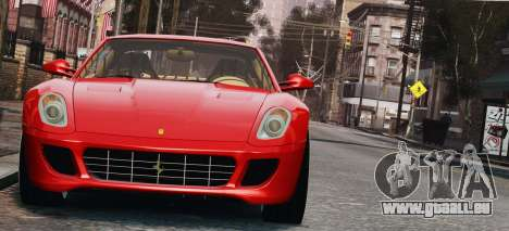 Ferrari 599 GTB Hamann 2006 pour GTA 4 est une vue de l'intérieur