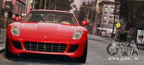 Ferrari 599 GTB Hamann 2006 für GTA 4 Innenansicht